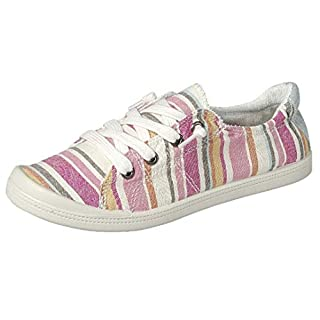 Forever Link Women's Classic Slip-On Comfort Fashion Sneaker, Pink Multi, 10