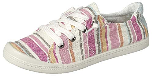 - Forever Link Women's Classic Slip-On Comfort Fashion Sneaker, Pink Multi, 9