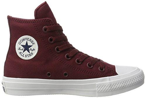 white Converse Rosso deep Uomo A Ii Ct Bordeaux navy Sneaker Collo Hi Alto 1w1AWrZqn