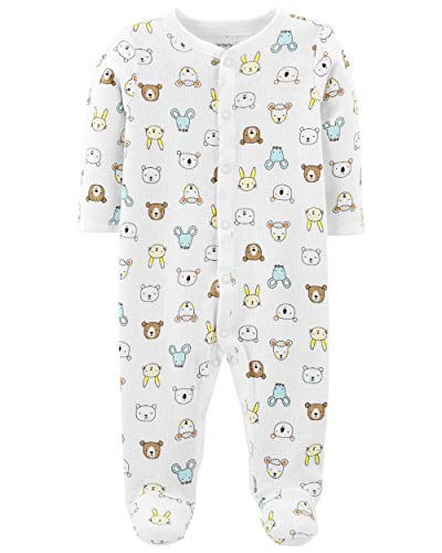 Carter's Baby Boys Cotton Footed Sleep N Play (Newborn, Animal Print)