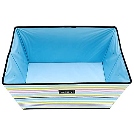 Multiple Patterns Available SCOUT JUNQUE Trunk Extra Large Organizer for Car and Home Collapsible Storage Bin with Reinforced Bottom