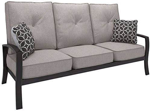 Ashley Furniture Signature Design - Castle Island Outdoor Sofa with Cushion - Dark Brown & Gray (Outdoor Ashley Furniture)