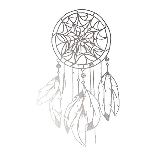 Silver Dream Catcher Temporary Tattoos (3-Pack) | Skin Safe | MADE IN THE USA| Removable