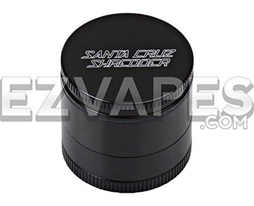Santa Cruz Shredder 4 Piece Anodized Aluminum Grinder (Mini 40mm, Black) (Santa Cruz Shredder Screen)