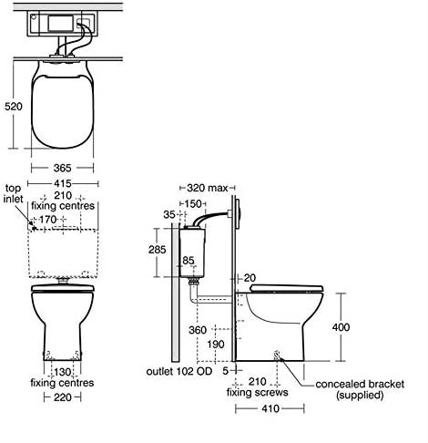 Ideal Standard T327901 Tempo Back to Wall Pan
