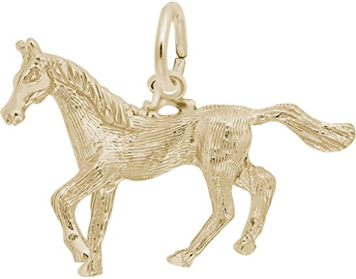 (Rembrandt Trotting Horse Charm - Metal - Gold-Plated Sterling Silver)