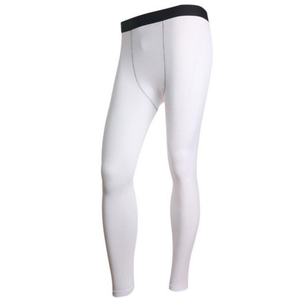 Moresave Uomini lunga termica Strato base Pantaloni Collant peluche intima di fondo