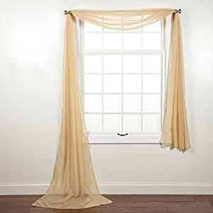 Curtain Online 39 S 1pc Voile Sheer Window Scarf