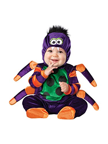 InCharacter Costumes Baby's Itsy Bitsy Spider Costume, Black/Purple, X-Small -