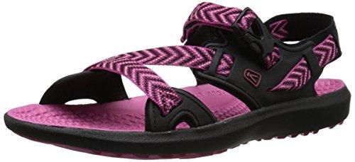 Keen Maupin Women's Sandalia Ias Para Caminar - SS16 black/very berry