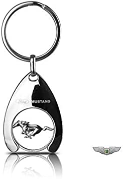 Ford Lifestyle Collection New Genuine Ford Mustang 3D Pony Keyring Key Ring 35021230