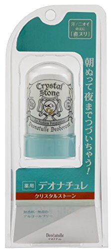 Deonatulle for WOMEN Medicated Crystal Stone 60g - Japan's best-selling natural deodorant by Deonachure - Soft Stone