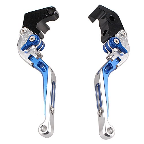 GZYF Foldable Extendable Clutch Brake Levers for Yamaha YZF R1 1998 Adjustable Levers by GZYF