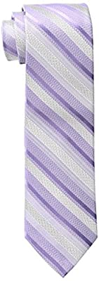 Calvin Klein Men's Pearlized Stripe Tie