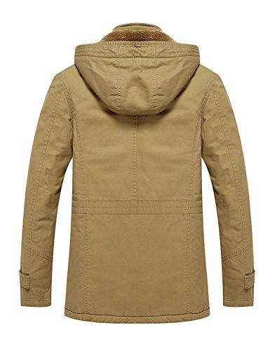 Menschwear Pile Incappucciato Piumino Giacca Puffer Jacket Uomo Beige Foderato Di S Down xxxl r0rR6
