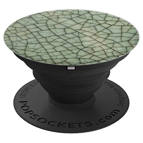 Antique art deco cracked glazed ceramic - PopSockets Grip and Stand for Phones and -