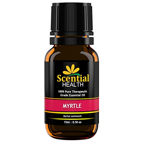 Scential Health Myrtle Essential Oil 15ml (.5oz) 100% Certified Pure Therapeutic Grade Essential Oil With No Fillers, Bases or Additives AND ZERO Carrier Oils