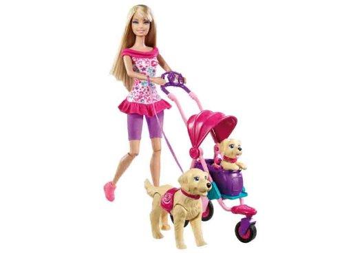 Barbie Strollin Pups Playset