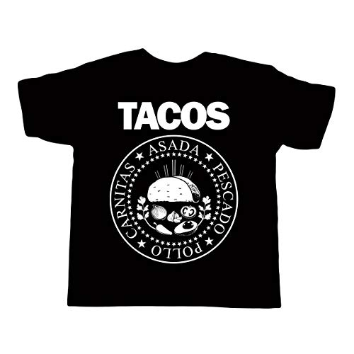96a4ae93 Kid's TACOS Ramones Shirt - Funny Mexican Children's T-shit