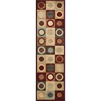Momeni Rugs DREAMDR-06RED2376 Dream Collection, Contemporary Area Rug, 23 x 76 Runner, Red