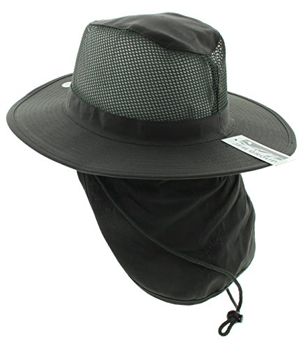 JFH Group Wide Brim Men Safari Outback Summer Hat With Neck Flap (Medium 9bbef70d269a