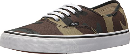 Vans Authentic Woodland Camo Black Men's Classic Skate Shoes Size 11