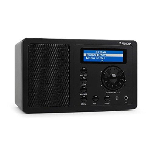 Auna IR-130 Internetradio WLAN Radio (Soft-Touch-Oberfläche, 8000 Internetradio-Stationen, Breitbandlautsprecher, Fernbedienung) schwarz