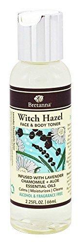 Bretanna All-Natural Witch Hazel, Alchohol Free Face & Body