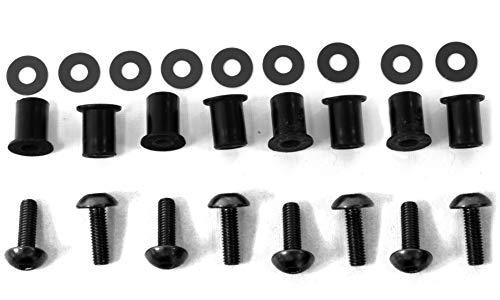 Pro-Bolt 8 Piece Windscreen Kit 5mm Black Aluminum SK8BK