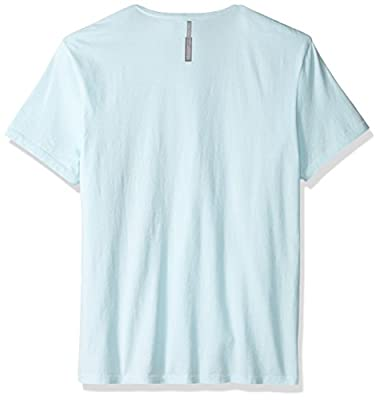Calvin Klein Jeans Men's Short Sleeve Ink and Paint Ck Logo V-Neck T-Shirt