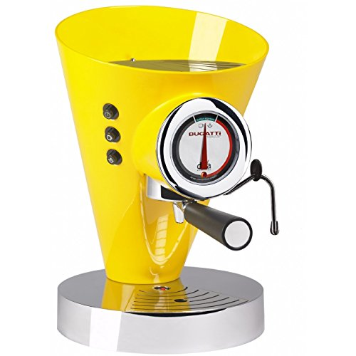 Casa Bugatti Espresso Coffee Machine Diva Evolution 15-EDIVAC6 Yellow 220-240 V (Machine Evolution Espresso)