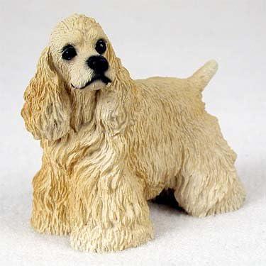 Cocker Spaniel Blonde Standard Figurine Set of 6