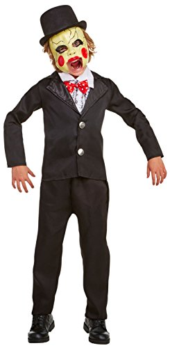 Ventriloquist Dummy Girl Costume (Villainous Ventriloquist Child Costume (4-6))