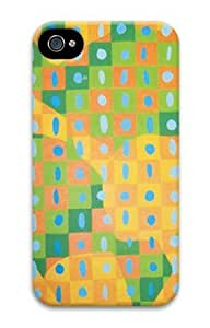 Iphone 4 4s 3D PC Hard Shell Case Squares by Sallylotus