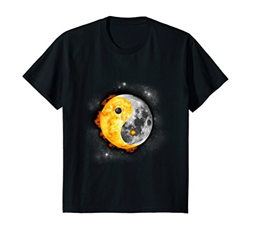 Price comparison product image Kids Yin Yang Total Solar Eclipse 2017 August T-Shirt Gift 10 Black