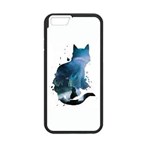 iPhone 6 Plus 5.5 Inch Cell Phone Case Black Cat and loneless KYS1127802KSL