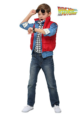Boys Back To The Future Child Marty Mcfly Costume S to XL