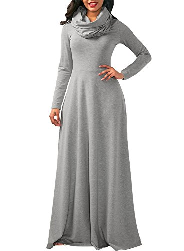 long sleeve a line maxi dress - 7