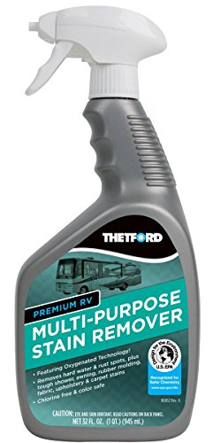 Premium RV Multi-Purpose Stain Remover - Cleaner for hard water / rust spots / rubber molding / vinyl /upholstery and carpet stains - Thetford 32838 ()