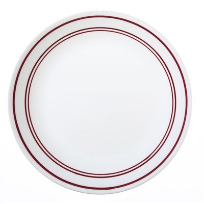 Livingware Classic Cafe 10.25'' Dinner Plate [Set of 6] Color: Red