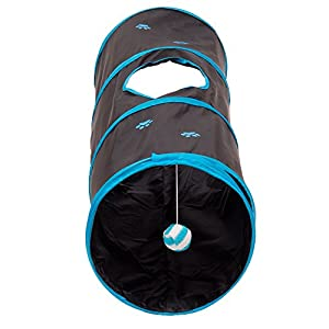 Prosper Pet Cat Tunnel - Crackle Play Toy - Collapsible Chute Fun for Rabbits, Kittens, and Dogs