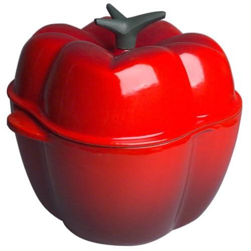 Le Creuset Cherry Red Cast Iron Bell Pepper Cocotte, 2.25 Quart