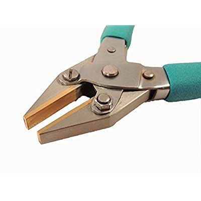 Mazbot Cushion Comfort Brass Jaw Flat Nose Parallel Pliers