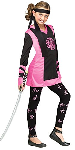 Pink Dragon Ninja Costumes (Dragon Ninja Kids Costume - Medium)