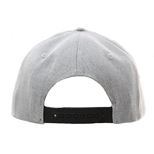King Star Men Solid Flat Bill Hip Hop Snapback Baseball Cap Panda-Gray