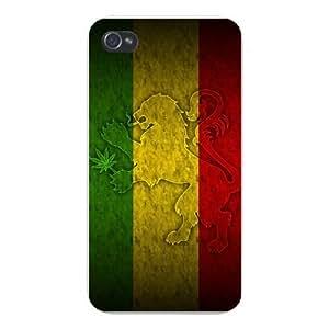 For Ipod Touch 5 Case Cover - Rasta Rastafari Movement Lion w/ Marijuana Weed Pot Leaf