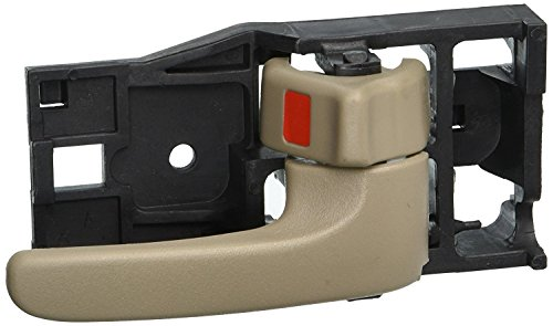 Eynpire 8022 Right Passenger Side Interior Inside Inner Door Handle Beige/Tan For 2001-2007 Toyota Sequoia; 2004-2006 Toyota Tundra (Double Cab ONLY)