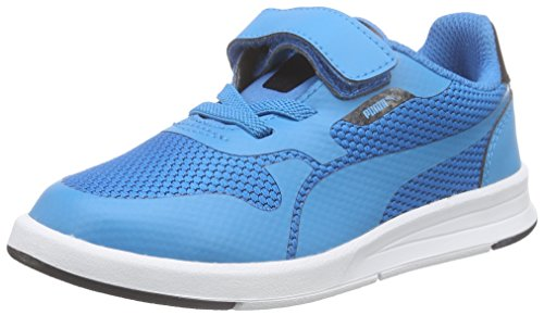Puma Icra Evo V Kids, Unisex-Kinder Sneakers, Blau (atomic blue-black 01), 35 EU (2.5 Kinder UK)