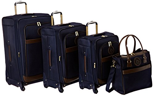 - Anne Klein Lightweight Luggage Suitcase Set with Tote