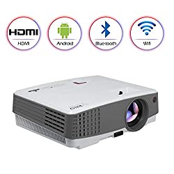Portable Led Bluetooth Wireless Movie Game Projector 2600 Lumens Multimedia Android Lcd Bluetooth Outdoor Wifi Proyector Support 1080p Digital Hd Mini Small With Bluetooth Hdmi Usb Vga Av 3 5mm Audio